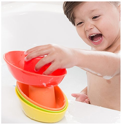 Nuby 5 Pack Stacking Bath Boats