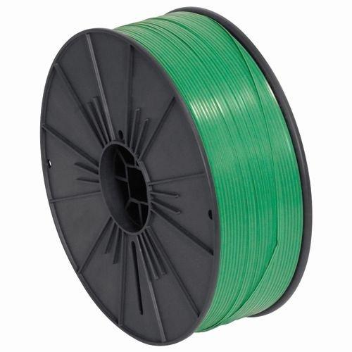 Aviditi PLTS532G Plastic Twist Tie Spool, 7000' Length x 5/32'' Width, Green