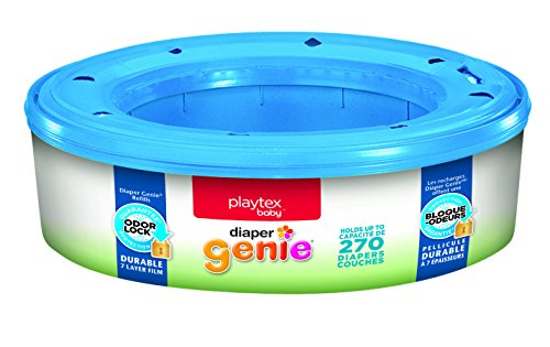 Ultimate Deluxe Diaper Bag - Playtex Diaper Genie Refill Bags, Ideal for Diaper Genie Diaper Pails, 270 Count