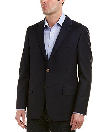 Hickey Freeman Mens Milburn Ii Wool Sportcoat, 44R, Blue
