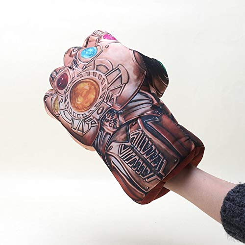 VIET TOY 1630cm Marvel Toys Anime Avengers 3 Infinity War Thanos Plush Gloves Cosplay Halloween Prop Costume Plush Infinity Gauntlet -