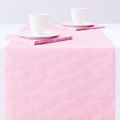Ambiente Camino de mesa, papel, rosa, 33 cm x 6 m: Amazon.es: Hogar
