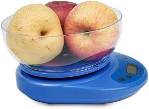キッチンスケールABSデジタルフードスケール、LCDディスプレイ付き5kg電子キッチン計量スケール、多機能クッキングスケール、風袋機能、自動オフ (色 : ブルー)