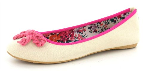 Spot On , Damen Ballerinas Beige/Coral