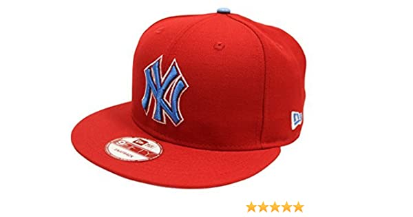 51cc9d33a35 New Era 9Fifty New York Yankees Dominican Republic Red Snapback at Amazon  Men s Clothing store
