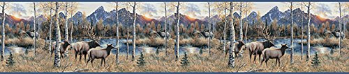 Chesapeake TLL50281B Wake by Elk River Wallpaper Border, Blue