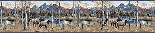 Chesapeake TLL50281B Wake by Elk River Wallpaper Border, (Elk Wallpaper Border)