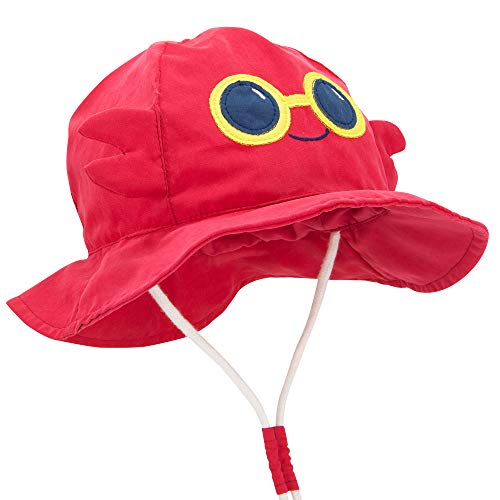"""Durio Baby Hat Sun Protection Baby Boy Hats Gifts for Baby Summer Bucket Hat Cute Toddler Sun Hat Girl Boy UPF 50+ Animal Caps Kids B Crab 21.3""""(54cm)/4-8 Years"""