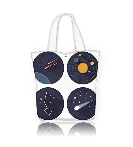 - Women's Canvas Tote Handbags stars constellations galaxies and comets Objectsused for education astronomy manuals and science Casual Top Handle Bag Crossbody Shoulder Bag Purse W11xH11xD3 INCH