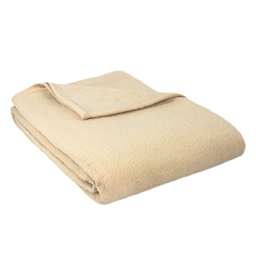 ALTA Luxury Hotel Fleece Blanket, Full Queen, Tan