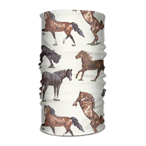 Thoroughbred Horse Headwear Bandanas Headscarf Helmet Liner Head Wrap Scarf by WOOD-RAIN