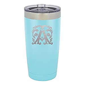 Froolu Insulated Water Bottle - Blue Personalized Laser Engraved Tumbler - Hydro Travel Cup Flask