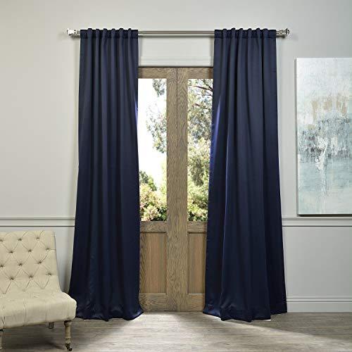 Nocturne Bedroom - HPD HALF PRICE DRAPES BOCH-193810-120 Room Darkening Curtain 50 x 120 Navy Blue 1 Panel