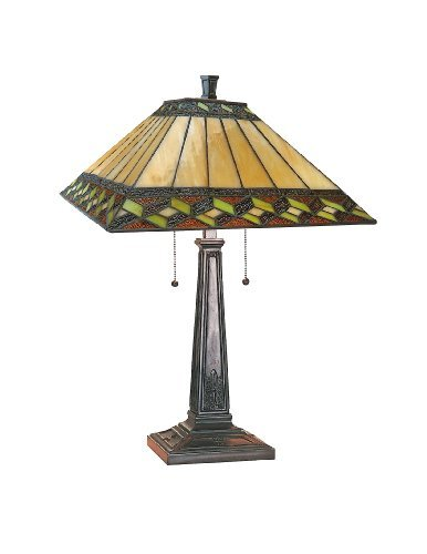 2 Inglenook Light (Lite Source LS-21767 Inglenook Ii Table Lamp, Antique Bronze with Inglenook Tiffany Shade by Lite Source)
