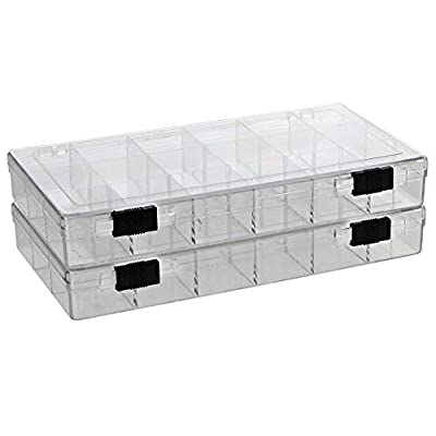 SAFE Rock Collection Box with 18 Compartments & 2 Sliding Latches: Toys & Games