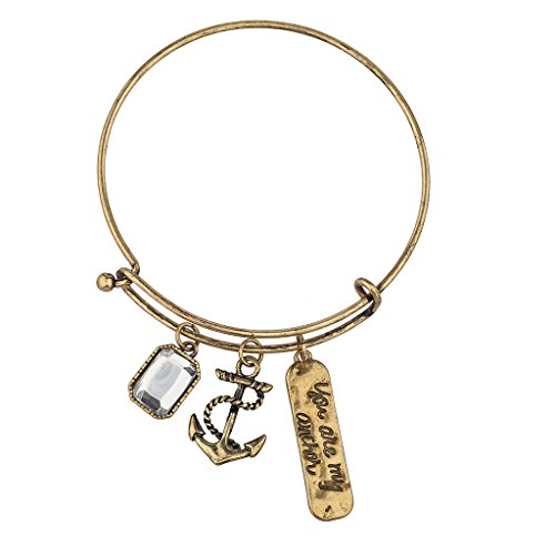 (Lux Accessories GOLD YOU ARE MY ANCHOR Sailor Navy Sea Bracelet)