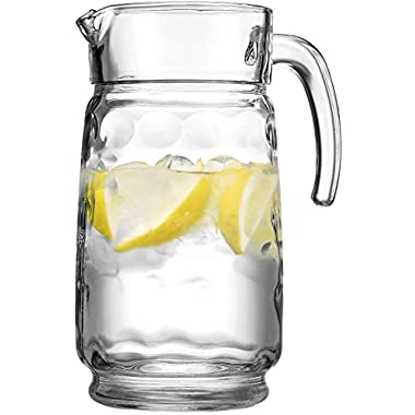 HOME ESSENTIALS ECLIPSE 66 OZ GLASS WATER PITCHER