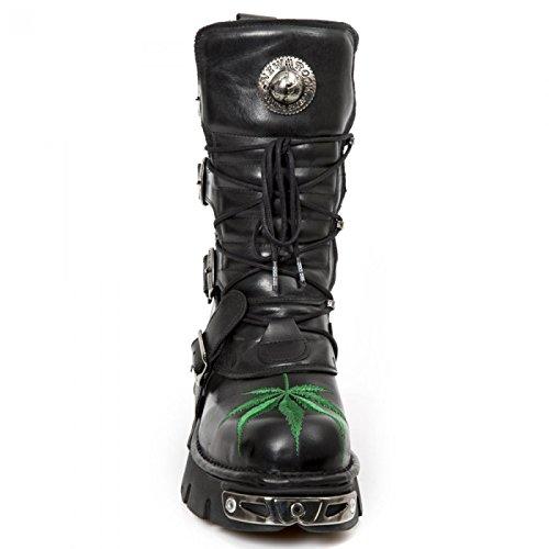 New Rock Boots M.373hojas-s1 Gotico Hardrock Punk Unisex Stiefel Schwarz
