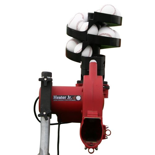 Heater Sports Jr. 52mph Baseball + Bonus Automatic Ball Feeder + 12 Balls HTR299