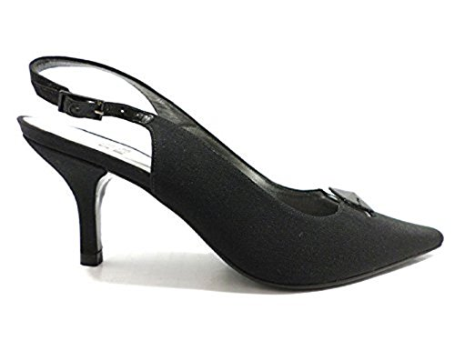 scarpe donna STUART WEITZMAN 36 EU sandali nero tessuto KY909