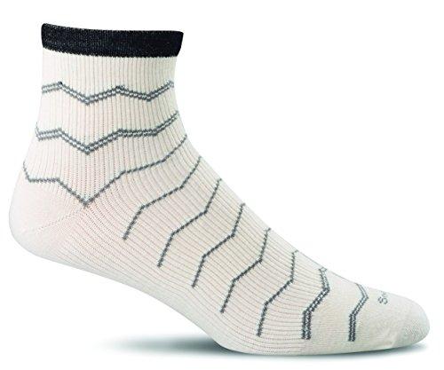 Sockwell Men's Plantar Fasciitis Firm Compression Socks, Natural, Medium/Large
