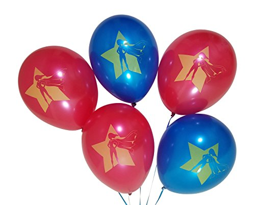 Superhero Girls Birthday Party Balloons - 25 Pack - Red, Blue]()