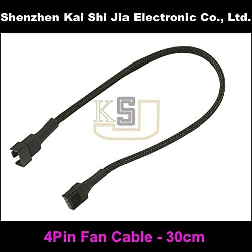 White Cable Length: 30CM ShineBear Factory Price 30cm 4Pin PWM Fan Sleeved Extention Cable Blue Black Green Available - Red