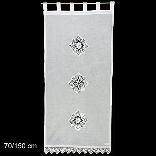 Seitenschal Kufstein mit schönen Häkelapplikationen Gr. 70/150 cm (BxH)!