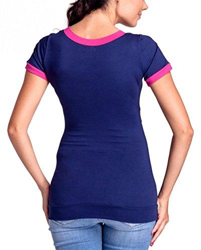 Camicia Colore Shirt Shirt T Allattamento T prémaman FONLONLON Puro Maglietta Donna Premaman Top L'Allattamento Pink Maglia wqHXUPxCO