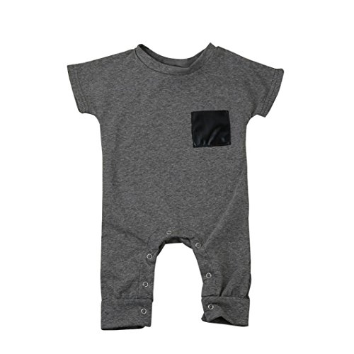 Ecurson Infant Newborn Baby Boys Short Sleeve Romper Jumpsuit (12--18Months)