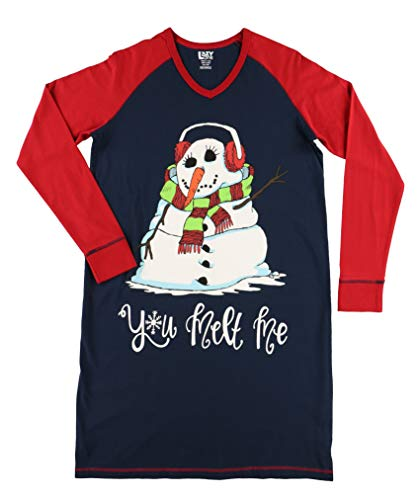 Snowman You Melt Me. Women's Animal Pajama Nightshirt by LazyOne | Cute Animal Nightgowns for Ladies (L/XL) (For Nightgowns Women Christmas)