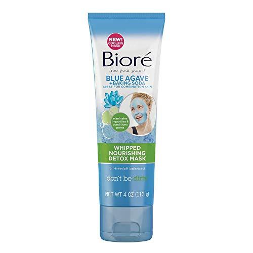Mask Warming Clay - Biore Blue Agave & Baking Soda Whipped Nourishing Detox Mask, 4 Ounce