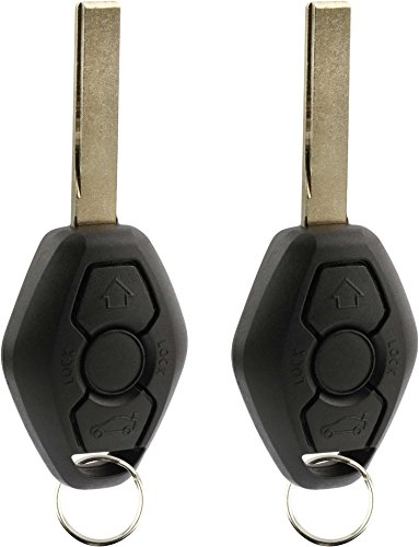Bmw 330ci Door - KeylessOption Keyless Entry Remote Control Car Key Fob Smooth Style Replacement for LX8 FZV (Pack of 2)