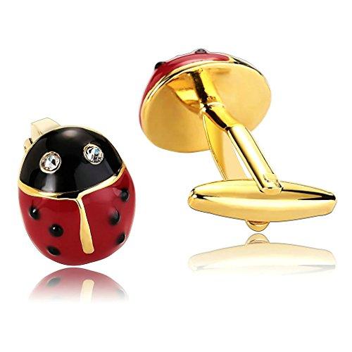 Epinki Men Stainless Steel Beetle Ladybird Cubic Zirconia Oil Drop Red Black - Lewin Tm Codes