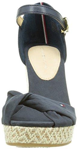 Tommy Hilfiger E1285Lena 3D - Sandalias para mujer Azul - Blau (MIDNIGHT 403)