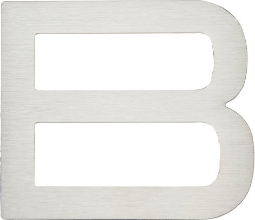 Atlas Homewares PGNB-SS 4-Inch Paragon House Letter-B, Stainless Steel by Atlas Homewares