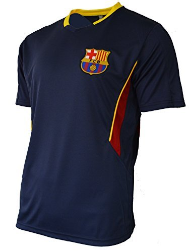 Soccer Adult Officials Jersey - Fc Barcelona Adult Training Jersey Performance Polyester -Shirts - Home -Away (BLUE-T1E16, M)
