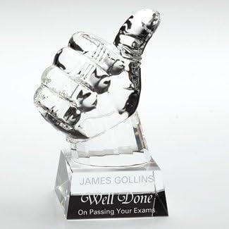 Thumbs up Pokal personalisierbar aus Glas