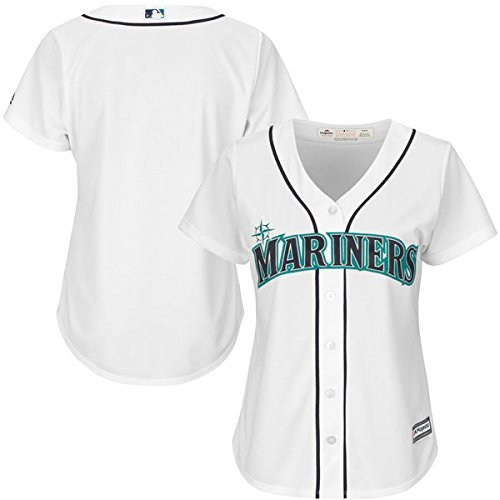 (VF Seattle Mariners MLB Womens Cool Base Home White Jersey Plus Sizes 1X)