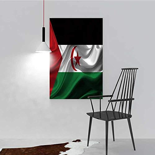 Nalahome - Decoración de Pared Moderna sin Marco de Bandera del Sahara Occidental, decoración del hogar, Sala de Estar, 12...