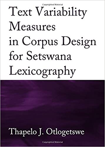 Buy Text Variability Measures in Corpus Design for Setswana