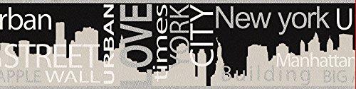 A.S. Creation 935671 Boys und Girls 4 Bordüre New York City, grau / metallic / schwarz