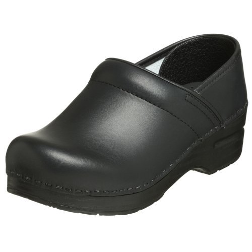 Dansko Women's Professional Box Leather Clog,Black,38 EU / 7.5-8 B(M) US