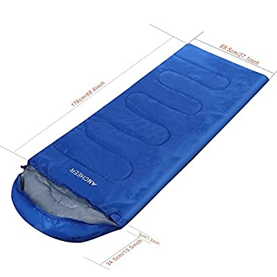 Ancheer New Inner Travel Hiking Camping Sleeping Bag Envelope Shape Single Folding With Carry Bag