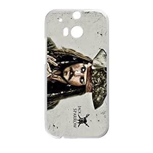 Happy Jack Sparrow Design Personalized Fashion High Quality Phone Case For HTC M8