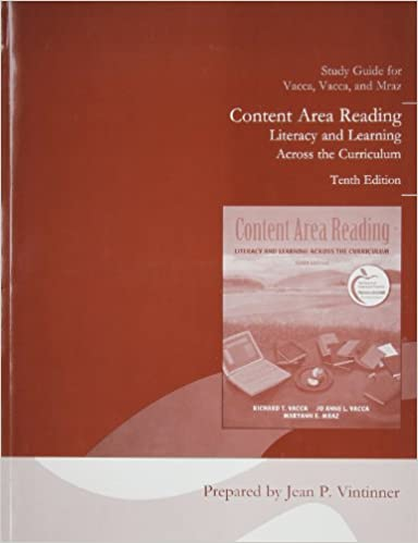 Book Student Study Guide for Content Area Reading: Literacy and Learning Across the Curriculum