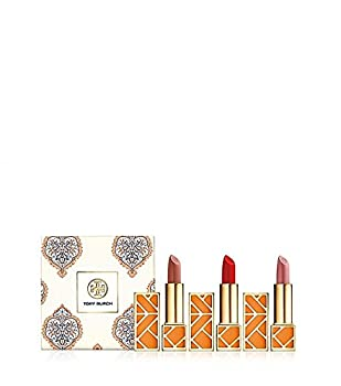 Tory Burch Lip Color, Set of Three Lipsticks: Pas Du Tout + Smack Dab + Ramble On Rose