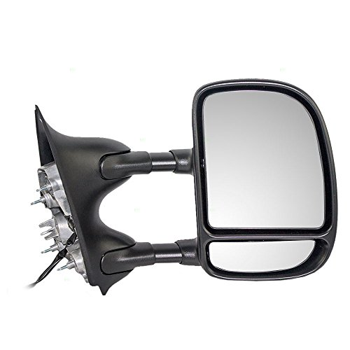 Passengers Telescopic Tow Power Side View Mirror with Dual Arms Replacement for Ford SUV Pickup Truck 3C3Z 17682 DAA (Ford Truck Side Mirrors)