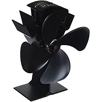 Home-Complete Stove Fan- Heat Powered Fan for Wood Burning Stoves or Fireplaces-Quiet and Low Maintenance, Disperses Warm Air Through House