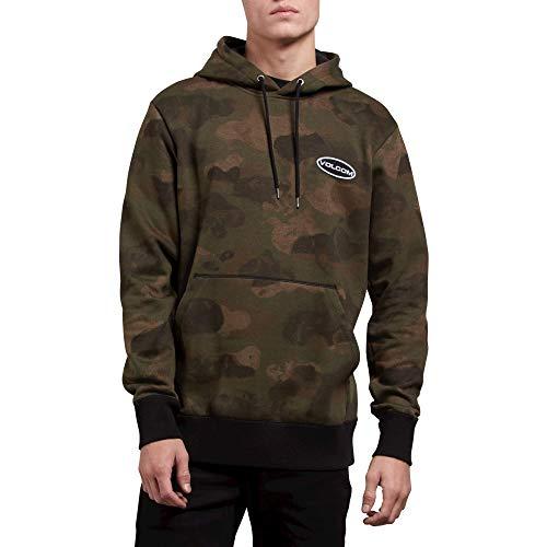 Volcom Men's Shop Stone Pullover Hooded Fleece Sweatshirt, Camouflage, Large ()